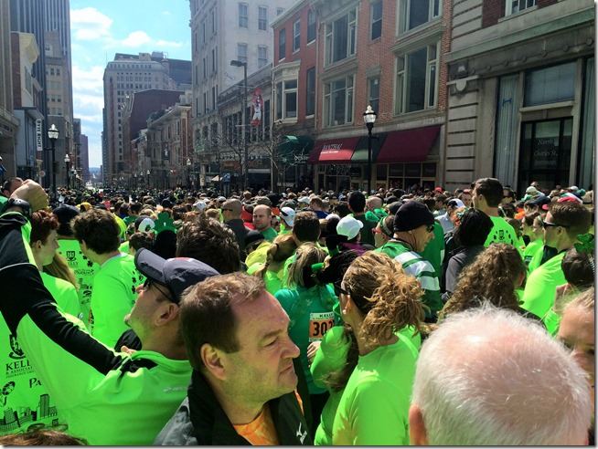 Baltimore St Patrick's Day 5K Starting Line Crowd