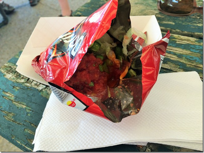 Food on RAGBRAI walking taco