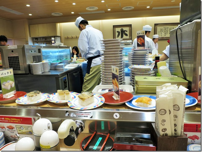 Don't Miss places in Japan- Sushi Conveyor Belt