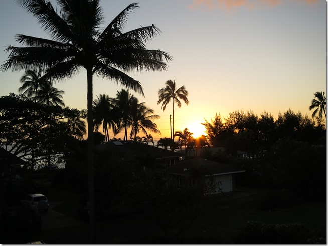 AirBnB Kauai sunset from the porch