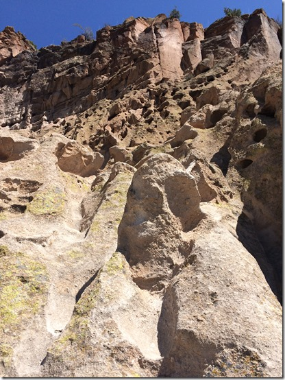Bandelier National Monument cliffs