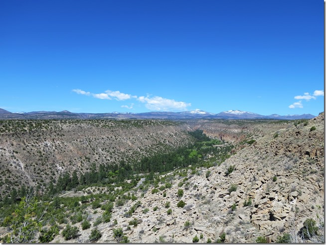 Bandelier National Monument scenic overlook