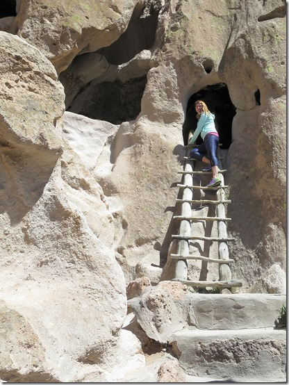 Bandelier National Monument ladder climb