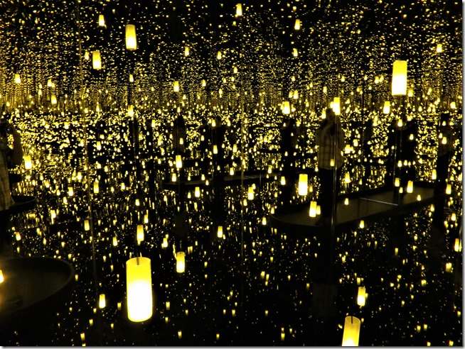 Infinity Mirrors exhibit floating candle room