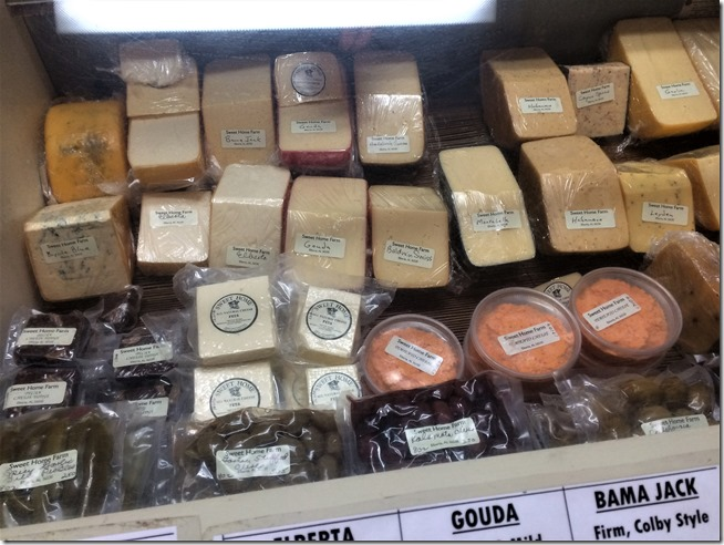 Sweet Home Farm Cheese Shop display case